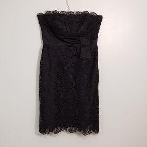 White House Black Market Strapless Lace Mini Dress